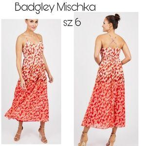 Badgley Mischka  Ombré Maxi Dress. Sz 6 . $184
